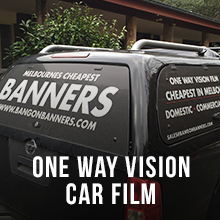 One Way Vision Car Film