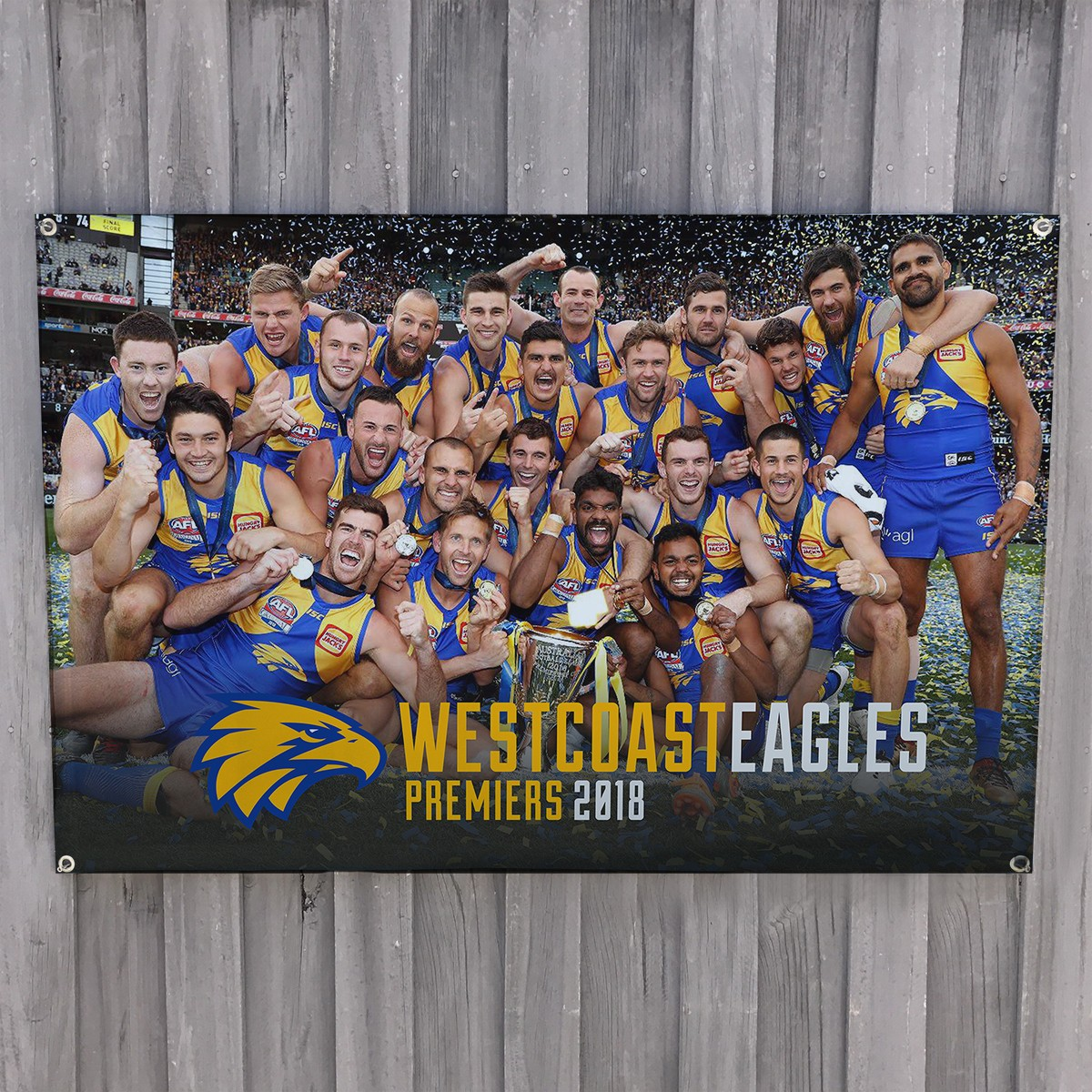 EAGLES TRIBUTE WALL HANGING 1200 X 800MM BY GEOFF SPENCER