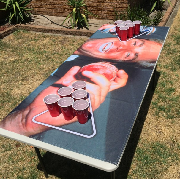 Sew a Tablecloth For The Beer Table