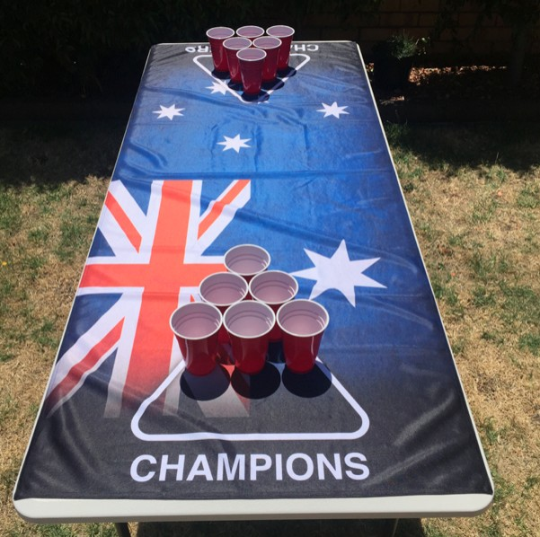 AUSTRALIA BEER PONG TABLE COVER CLEARANCE