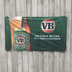 VINTAGE BEER AD WALL HANGING 1200 X 625MM