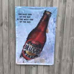SOUTH AUS VINTAGE BEER AD WALL HANGING 700 X 1025MM