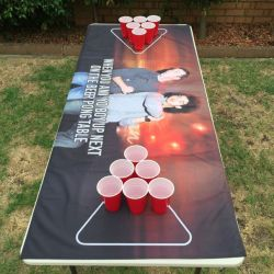 AUS IDOL BEER PONG TABLE COVER CLEARANCE